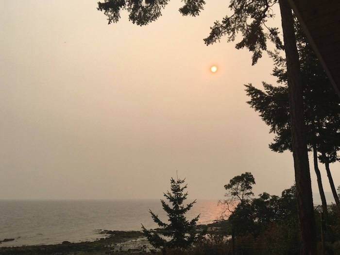 Hazy view of Vancouver from Gabriola Island (Photo: Grant Lawrence)