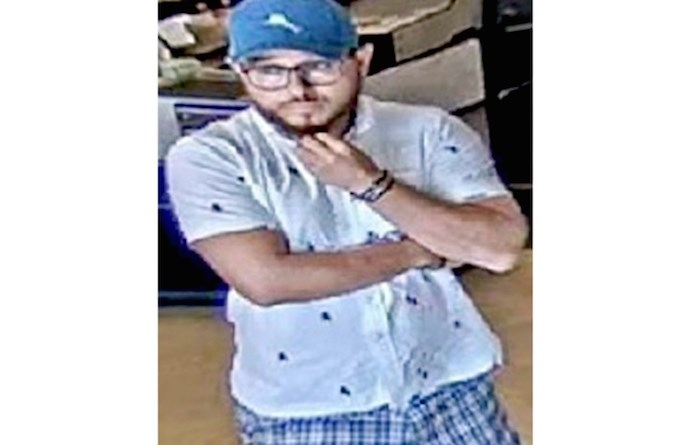 A suspect currently wanted in West Vancouver. Photo supplied