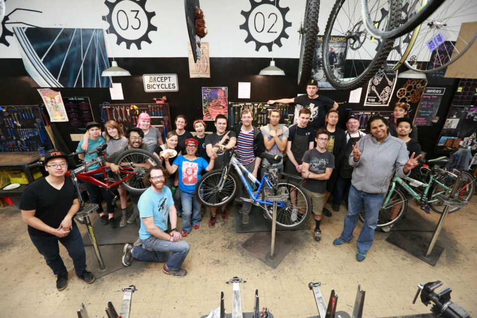 A Pedal for the People bike build party. Photo Arman Kazemi