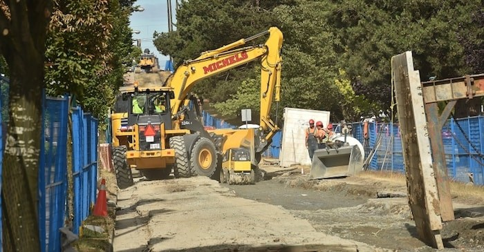East First Avenue under repair (Photo: Dan Toulgoet)
