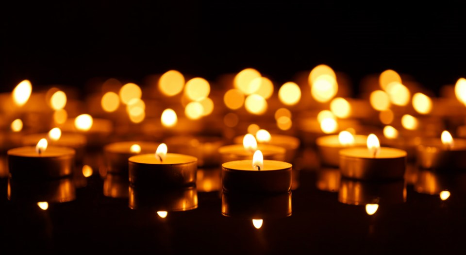 Candles will be lit at the nternational Overdose Awareness Day Vigil & Rally to remember those that have died from drug overdoses. Photo Shutterstock