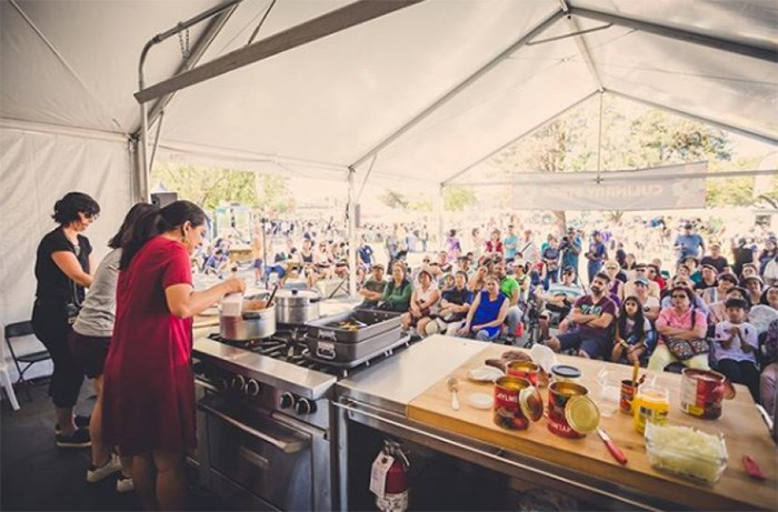 The culinary stage at the Richmond World Festival features several cooking demonstrations this year. Attendees this year can see how to make Portuguese cuisine, Vietnamese/French fusion, pastries, Indian dishes, custom chocolates and more. Photo: Instagram / @richmondworldfest