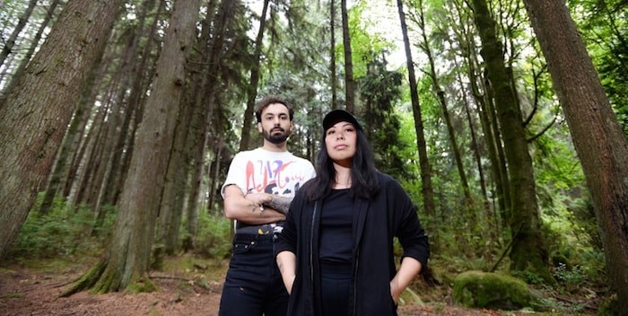 Belle Game's Adam Nanji and Andrea Lo will perform across North America this month with former Smiths guitarist Johnny Marr. Photograph By JENNIFER GAUTHIER