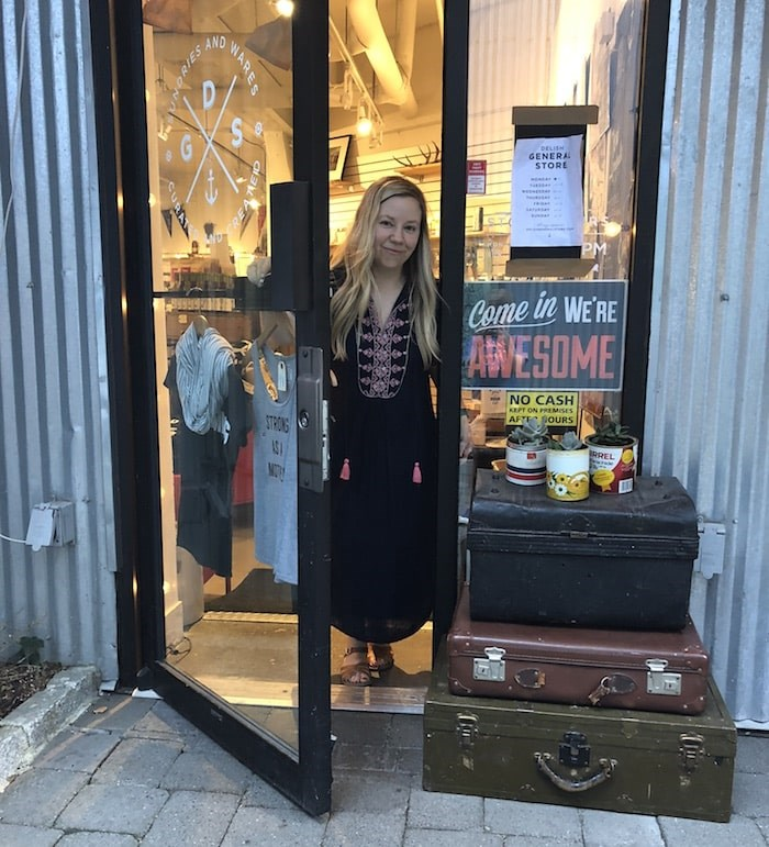 Tamara Komuniecki at the original Delish General Store on Granville Island (Photo courtesy Delish General Store)