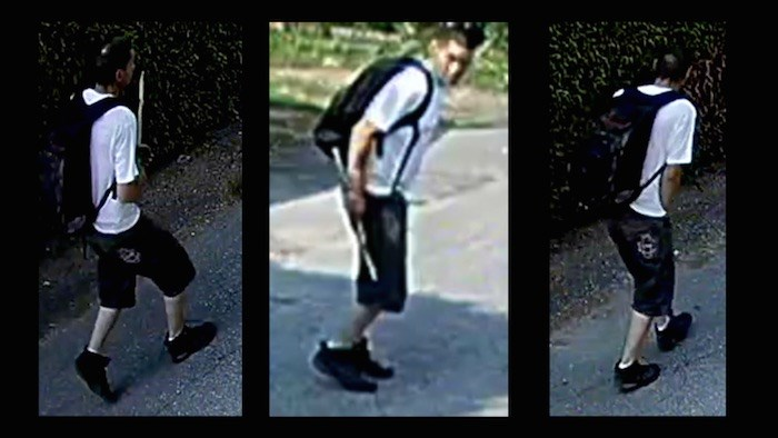 olice are looking for this suspect in a case of arson in an East Van neighbourhood. Photos courtesy Vancouver Police Department