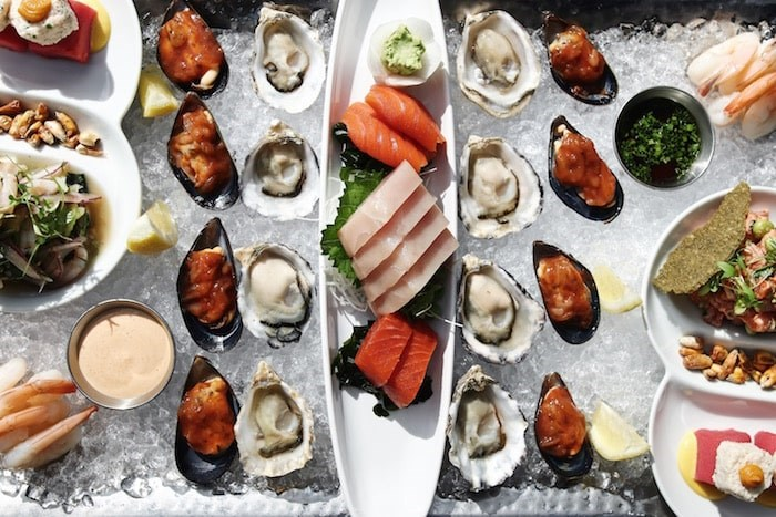 A raw bar offering called the Glacier at Ancora (Photo courtesy Ancora)