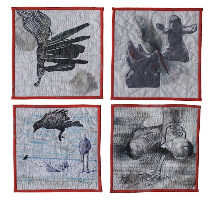 The work of Jennie Johnston is on display in Commonalities: Our Relationship With Crows.