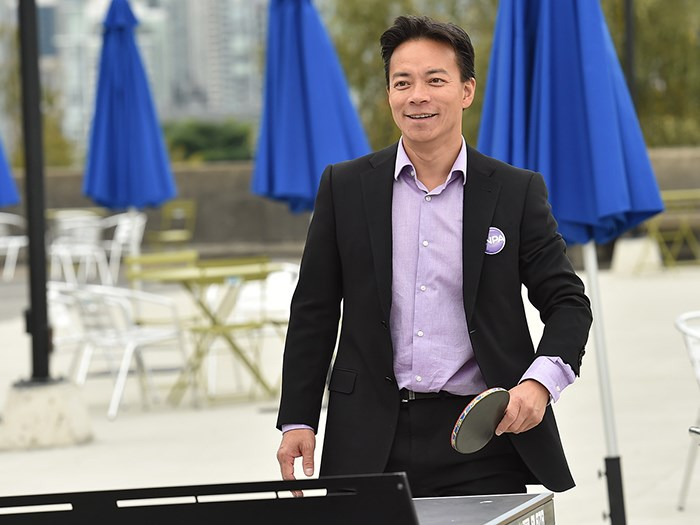 Ken Sim will be playing ping pong with a mix of councillors. Photo Dan Toulgoet