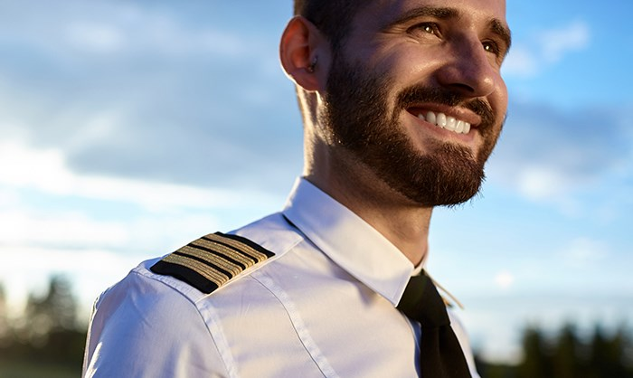 That's a bearded pilot right there. Shutterstock