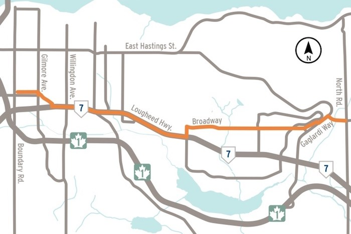 This map shows the FortisBC gas line upgrade project. Map courtesy FortisBC