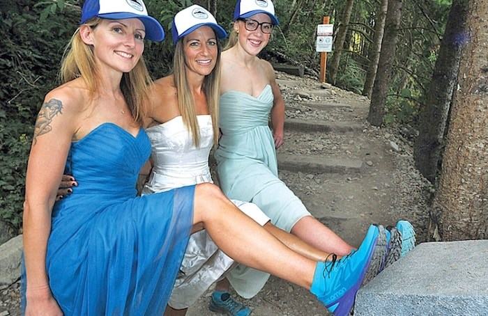 Event organizer Karen Stark,Tiffany Phillips and Jeanelle Hazlett will be taking part in the inaugural Gowns on the Grind event on Sept. 29 in order to raise money for the not-for-profit organization KidSport. (Paul McGrath/North Shore News)