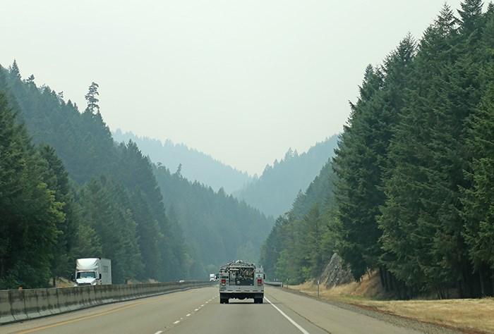 Oregon wildfire haze. Photo Bob Kronbauer