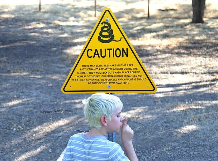 Watch for rattlesnakes. Photo Bob Kronbauer