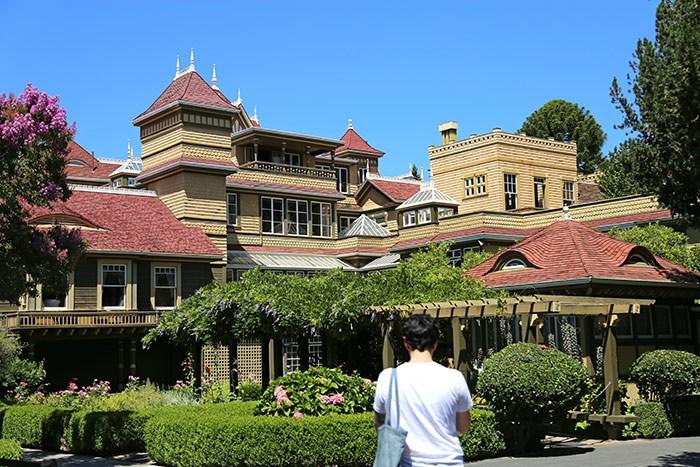 Outside the Winchester Mystery House in San Jose, California. Photo Bob Kronbauer