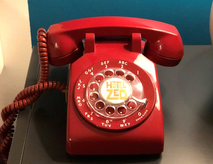 Hotel Zed graciously includes instructions on how to use the rotary phone in your room, which might make you feel really old (Lindsay William-Ross/Vancouver Is Awesome)