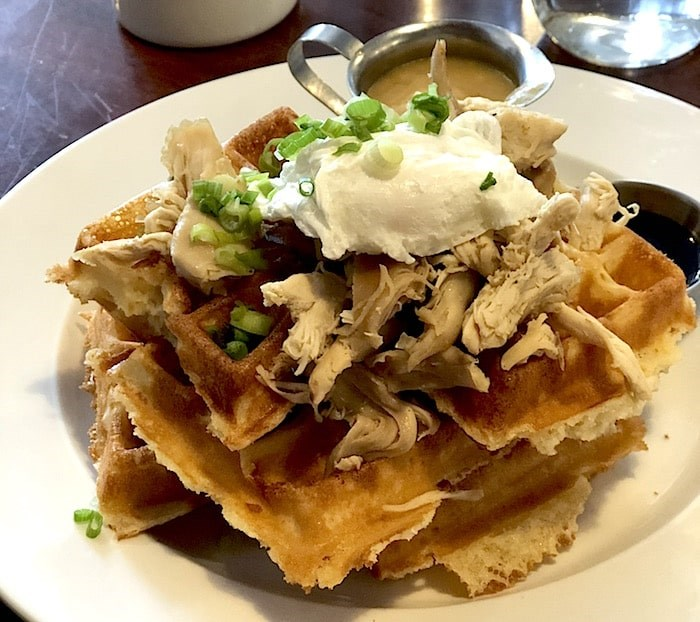 Chicken & Waffles done differently at The Ruby (Lindsay William-Ross/Vancouver Is Awesome)