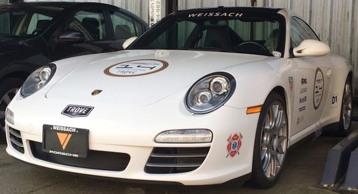 This Porsche 911 has been impounded for seven days after the driver was caught going 138 kilometres per hour on the Upper Levels Highway at Capilano Road. photo Mike Wakefield, North Shore News