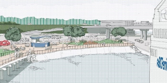 Artist's rendering of what a renovated Swartz Bay terminal could look like. Improving pick-up and drop-off facilities was one of the publicÕs suggestions as B.C. Ferries plans an upgrade at Swartz Bay to handle more traffic. Detailed plans are expected to be developed by the end of the year. October 2018