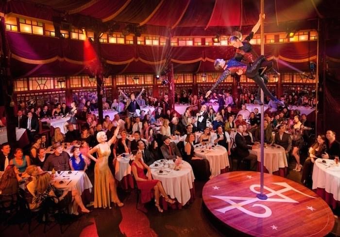 Gourmet cirque cabaret Teatro ZinZanni has been running in Seattle since 1998. Photo Michael Craft