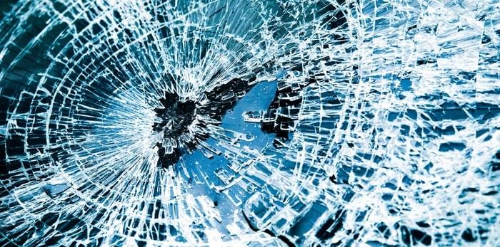 Broken car window/Shutterstock