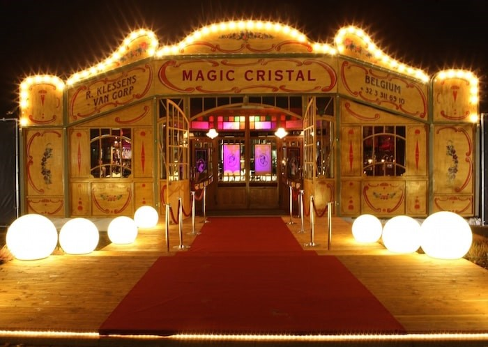 In Vancouver Bacio Rosso takes place inside an antique tent dubbed the Carrousel. Photo Bacio Rosso