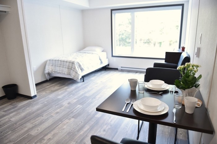 Each 320-square-foot unit will feature a kitchenette, bathroom and living/sleeping area. Photo Dan Toulgoet