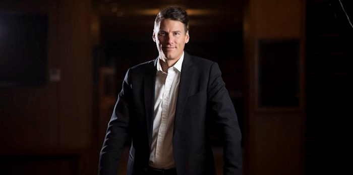 Outgoing mayor Gregor Robertson is pictured outside his office at City Hall in Vancouver, Thursday, Oct. 4, 2018. After 10 years leading British Columbia's largest city, Robertson is preparing to step away from the helm. THE CANADIAN PRESS/Jonathan Hayward
