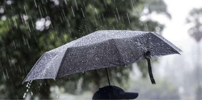 Photo: umbrella in rain / shutterstock
