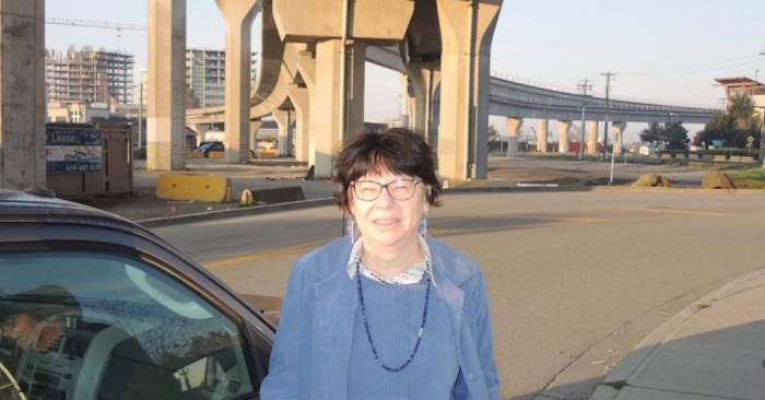 Until recently, Catherine Miller had been parking for free in a vacant lot under Bridgeport Canada Line station, which is owned by the River Rock Casino. It has been closed for two months and is causing parking headaches for many commuters, including Miller. Alan Campbell photo