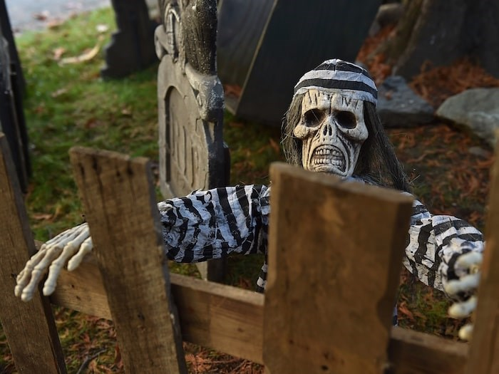 The haunted house walkthrough's scare factor is 7 out of 10. Photo by Dan Toulgoet