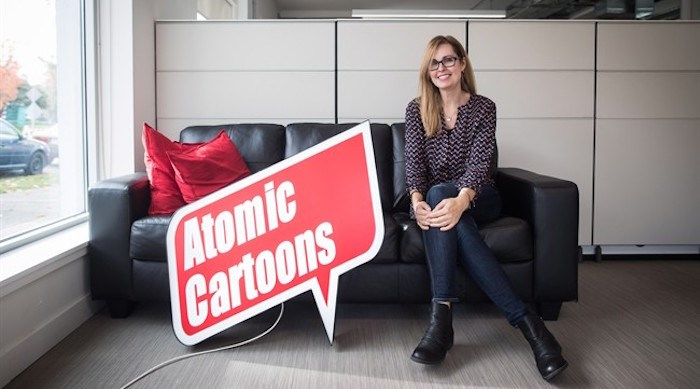 Jennifer Twiner McCarron, CEO of Thunderbird Entertainment and its subsidiary Atomic Cartoons, poses for a photograph in Vancouver, on Wednesday October 24, 2018. THE CANADIAN PRESS/Darryl Dyck