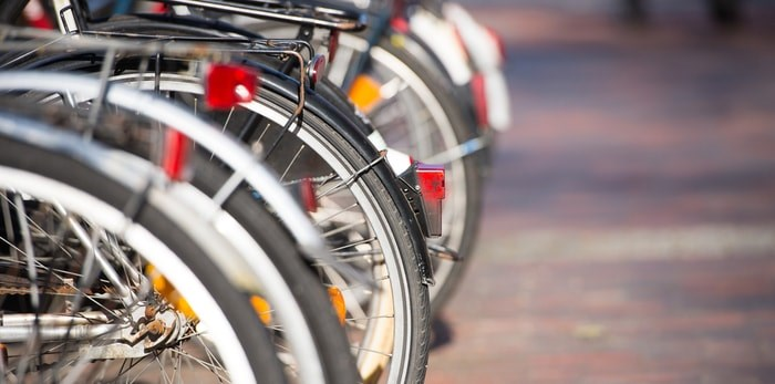 Bicycles parked/Shutterstock