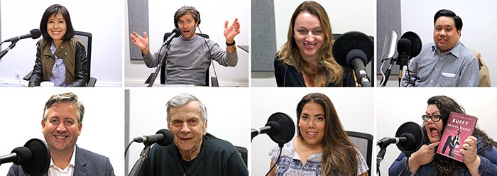 A few of the guests we've featured on the V.I.A. podcast. Michelle Eliot, Grant Lawrence, Corinne Lea, Joseph Planta, Kennedy Stewart, William B Davis, Erin Sousa, Andrea Warner