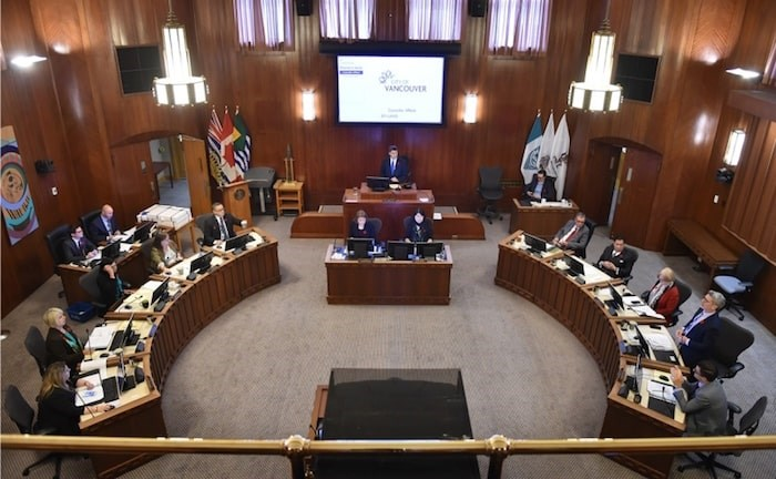 Mayor Gregor Robertson and the 10-member council held their last public meeting Tuesday at city hall. Photo Dan Toulgoet