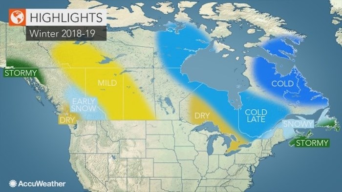 AccuWeather has released its winter forecast.