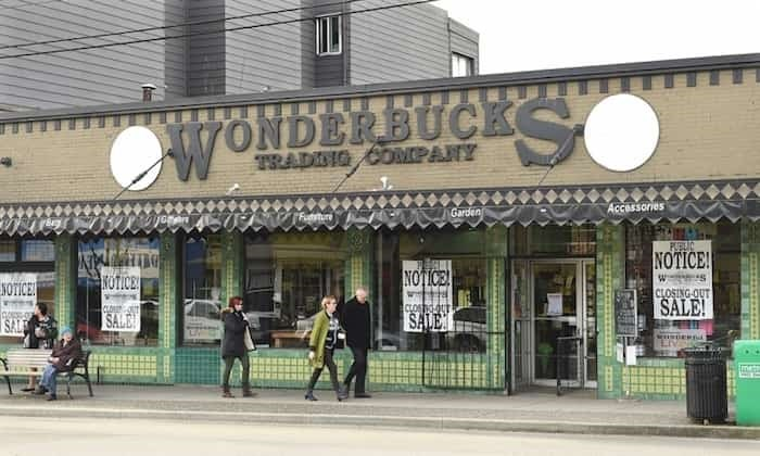 Wonderbucks operated at 1801 Commercial Dr. for 18 years before closing in early 2017 after rent and property taxes increased. The building has been vacant since then. Photo Dan Toulgoet