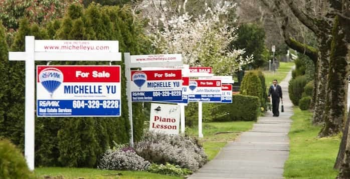 B.C. home sales remained on an upswing in October 2019. Photo: Houses for sale in Vancouver. File photo