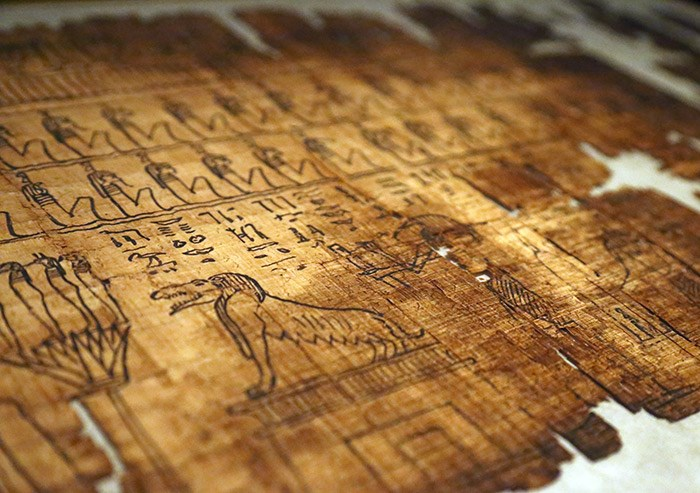 Papyrus from The Book of the Dead. Photo Bob Kronbauer