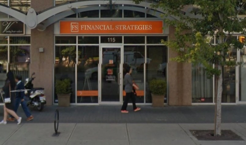 FS Financial Strategies is being investigated by the BCSC over $47 million investment fraud allegations. Google Maps photo