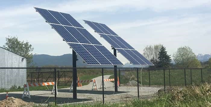 Construction was completed this spring on a $95,000 project to bring solar power to Colony Farm Regional Park in Coquitlam park, which had no hydro electricity and had been using a diesel-powered generator in its workshop.