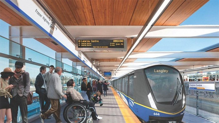An artist's rendering of the SkyTrain system Surrey Mayor Doug McCallum wants for his city and Langley|SkyTrain for Surrey