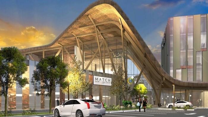 Cascades Casino Delta. Rendering courtesy BCLC