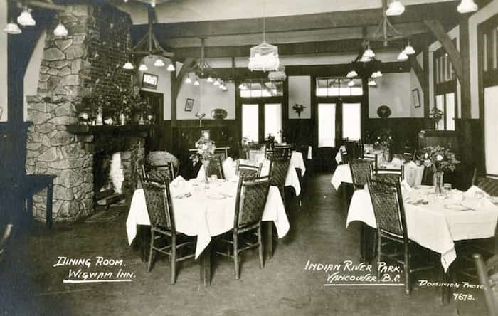 An interior look at the storied Wigwam Inn during its early days. Gangster Al Capone and a ghost were rumoured to be guests over the years. photo supplied North Vancouver Museum and Archives