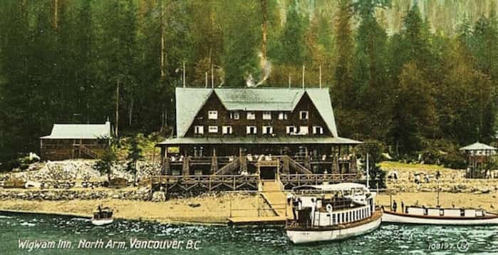 The Wigwam Inn opened at the north end of Indian Arm in 1910 and was rumoured to be frequented by gamblers and mobsters, including Al Capone. photo supplied North Vancouver Museum and Archives