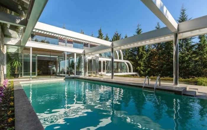 Even though the pool is outside, it is under a structure that extends the lines of the overall house. Listing agent: Eric Latta