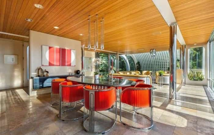 The dining room also comes with bespoke furniture designed by Erickson. Listing agent: Eric Latta