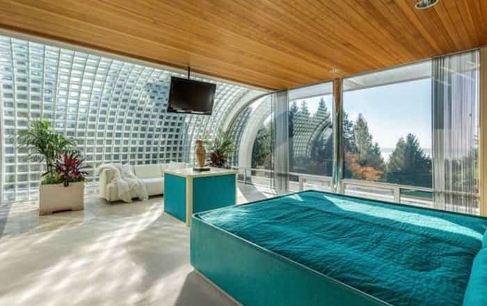 The sunny master bedroom is huge and has sweeping ocean views. Listing agent: Eric Latta