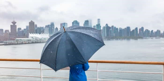Vancouver in the rain/Shutterstock