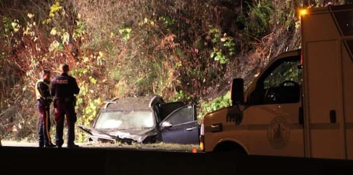 A portion of Barnet Highway in Burnaby was closed for nearly 12 hours after a fatal crash on Friday night.