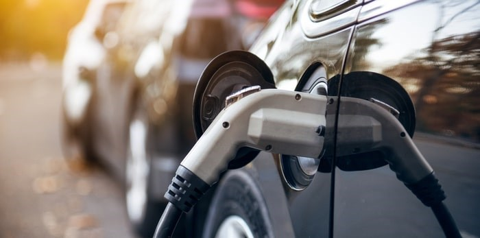 A new study says B.C. needs to double its production of electricity to meet forecast load demands from electric vehicles. Photo: Electric vehicle charging/Shutterstock